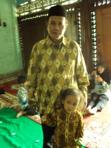 My father with nayla, my sweet niece